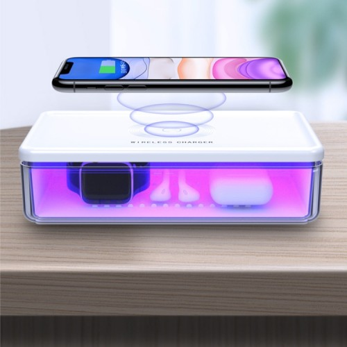 N52 15W ultra-violet light disinfection sterilization box and wireless charging station