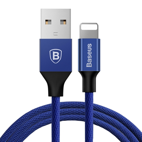 Baseus 1.8m 2A Yiven Cable Woven Style for iPhone (Blue)