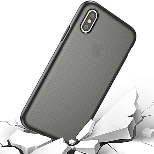For iPhone 8 Basketball Texture Anti-collision TPU Protective Case Small Quantity Recommended Before iPhone 8 Launching (Black)