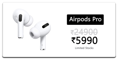 Apple Airpods Pro for Rs.6990/-