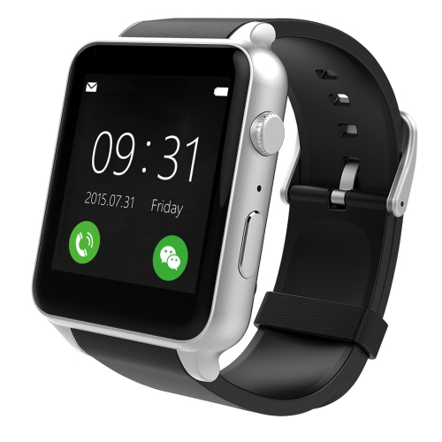 GT88 Bluetooth Fitness Tracker Smart Watch with Camera Support SIM Call Heart Rate Pedometer Sleep Monitor Anti-lost Remote Capture(Silver)