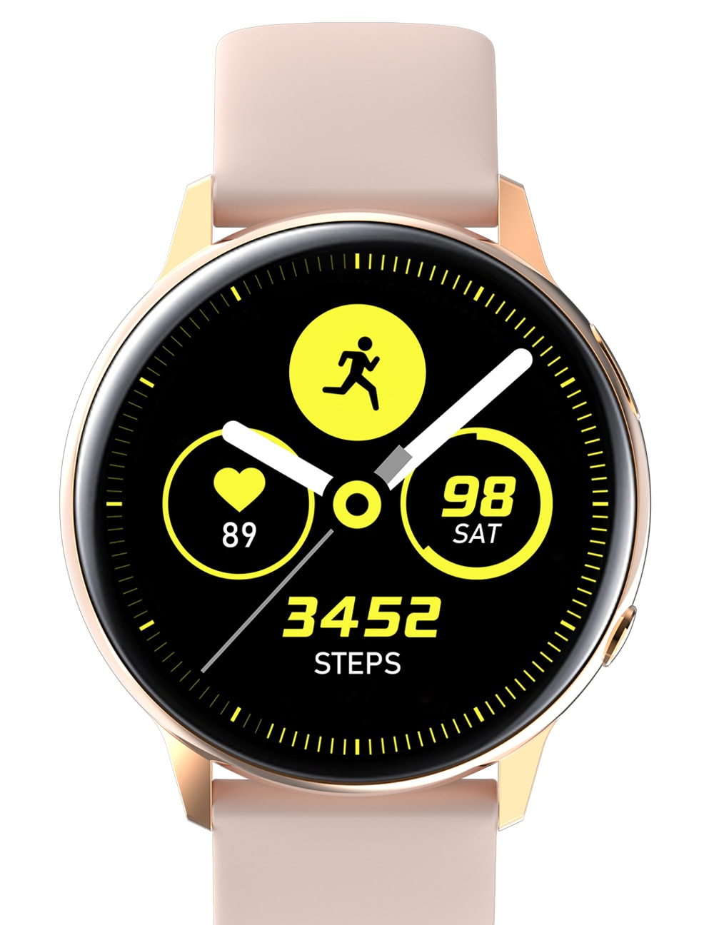 G20 Smartwatch with Wireless Charging, Fitness Tracker, Heart-Rate Sensor, Blood Oxygen Check (Black)